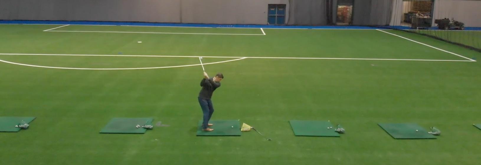 Joueur de golf intérieur