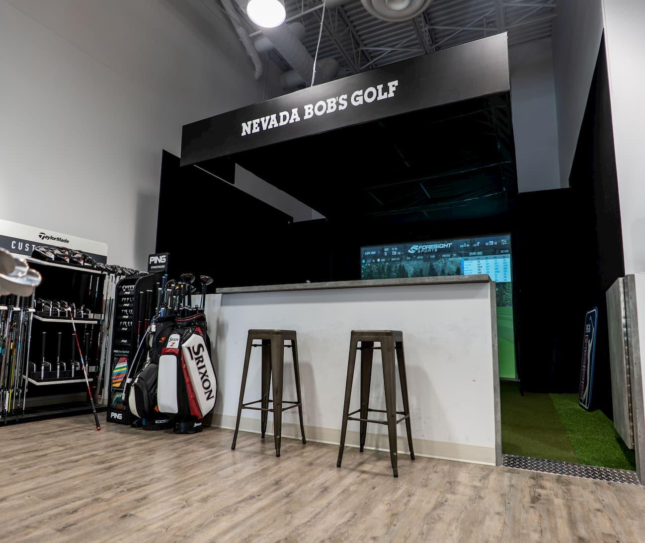 Installation cage commerce de golf